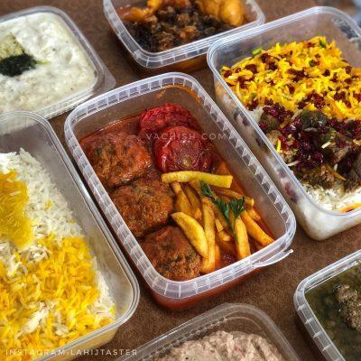 غذای بیرون بر لاهیج بانو